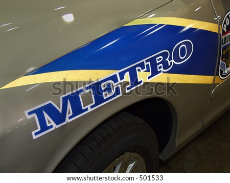 metro police - stock photo