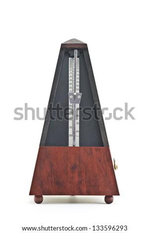Metronome Isolated On White - stock photo