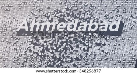 metropolis cities - ahmedabad - stock photo