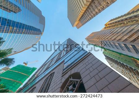 Metropolis of Shanghai's modern office building - stock photo