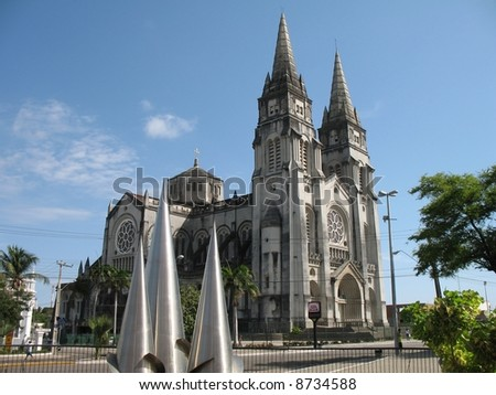 Metropolitan Cathedral in Fortaleza Brazil - stock photo
