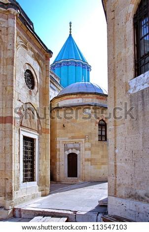 Mevlana museum mosque in Konya, Turkey - stock photo