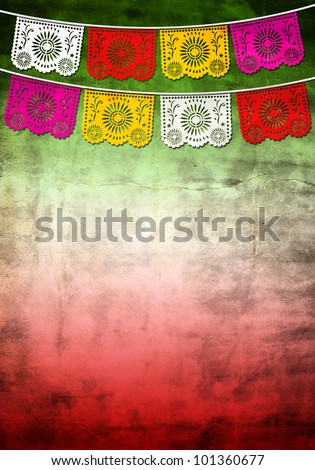 Mexican 5 / Cinco de mayo paper decoration - poster - card template - stock photo