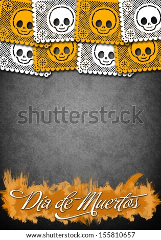 Mexican Day of the Death poster template - stock photo