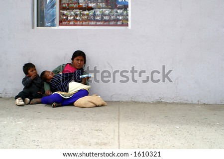 Mexican Family - stock photo
