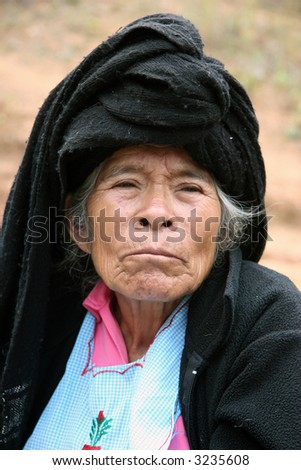 mexican indian portrait - stock photo
