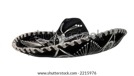 Mexican mariachi hat - stock photo