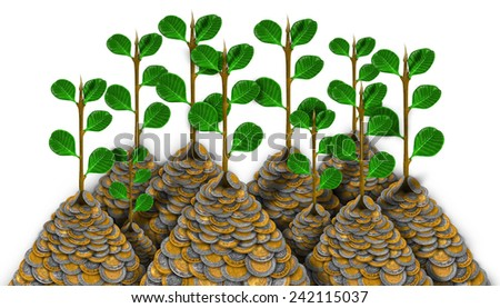 Mexican Peso Money Growth Plants - stock photo