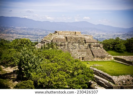 Mexican Pyramid - stock photo