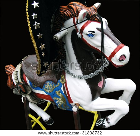 mexican toy horse - stock photo