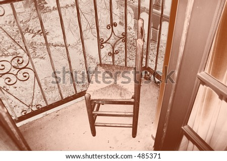 Mexican Wicker Chair - stock photo
