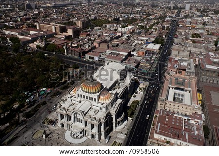 Mexico City, aerial view - stock photo