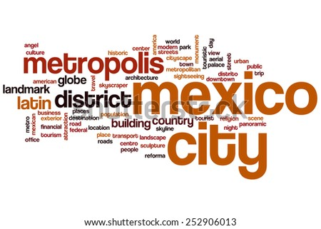 Mexico City word cloud concept - stock photo