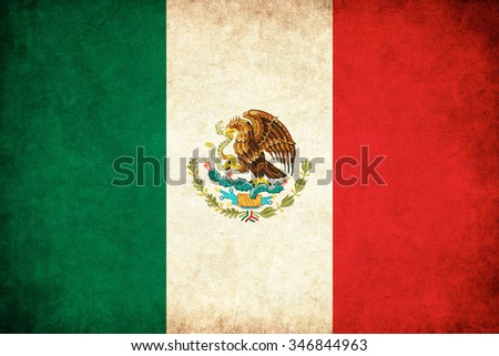 Mexico grunge flag background illustration of country - stock photo