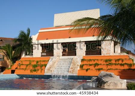 mexico riviera maya iberostar lindo - stock photo