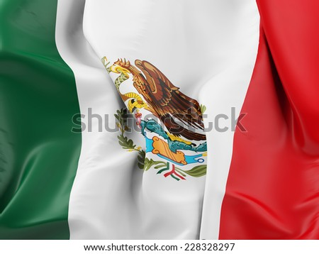 Mexico Waving Flag - stock photo