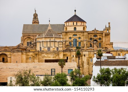 Mezquita Cathedral (The Great Mosque) in Cordoba, Spain, Andalusia region. - stock photo
