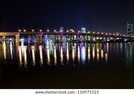Miami at Night - stock photo
