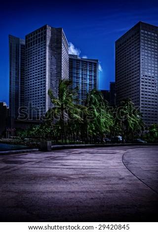 Miami Beach City in South Florida - stock photo