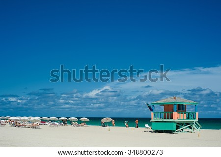 Miami beach, the best beach in Miami. - stock photo