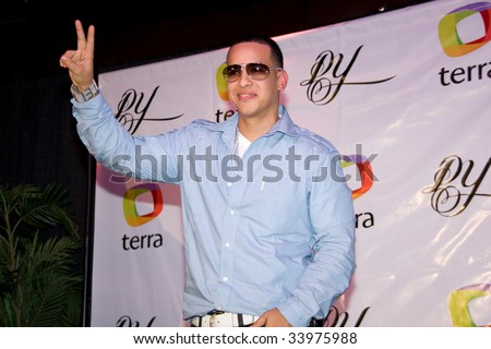 MIAMI, FL - JUNE 30: Yankee Daddy at a Press Conference To talk about his Album and New Site, also to accept an award on June 30, 2009 in Miami, Florida - stock photo