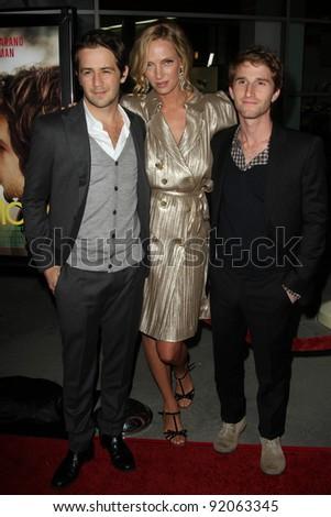 "Michael Angarano, Uma Thurman and Max Winkler at the ""Ceremony"" Los Angeles Premiere, Arclight, Hollywood, CA. 03-22-11 - stock photo"
