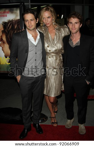 "Michael Angarano, Uma Thurman, Max Winkler at the ""Ceremony"" Los Angeles Premiere, Arclight, Hollywood, CA. 03-22-11 - stock photo"
