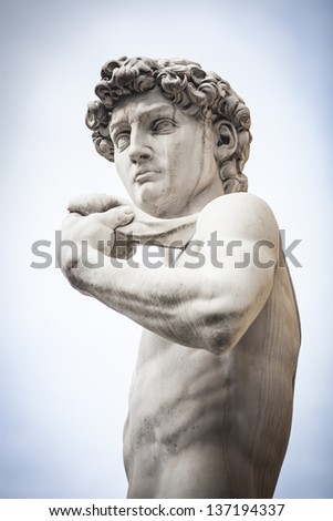 Michelangelo's David Statue in Florence - stock photo