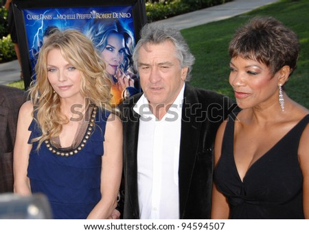 "Michelle Pfeiffer & Robert De Niro & wife Grace Hightower at the Los Angeles premiere of ""Stardust"" at Paramount Studios, Hollywood. July 30, 2007  Los Angeles, CA Picture: Paul Smith / Featureflash - stock photo"