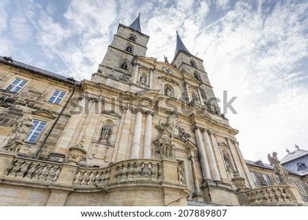 Michelsberg monastery in Bamberg, Germany - stock photo