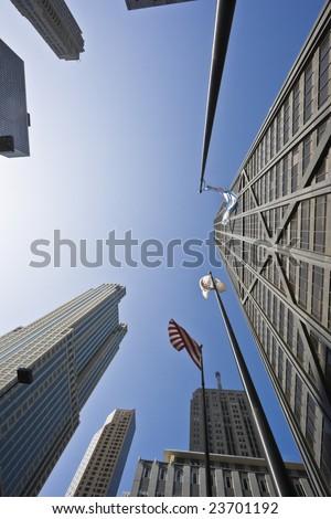 Michigan Avenue in Chicago, IL. - stock photo