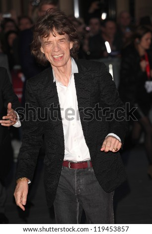 Mick Jagger arriving the Premiere of 'Crossfire Hurricane' during the 56th BFI London Film Festival at Odeon Leicester Square, London. 18/10/2012 Picture by: Alexandra Glen - stock photo