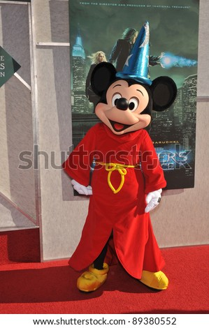 """Mickey Mouse at a benefit screening for """"The Sorcerer's Apprentice"""" at Walt Disney Studios. July 12, 2010  Burbank, CA Picture: Paul Smith / Featureflash - stock photo"""