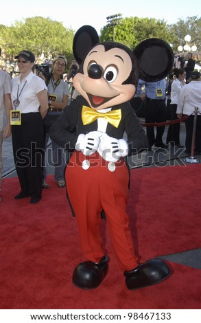MICKEY MOUSE at the world premiere of Pirates of the Caribbean: The Curse of the Black Pearl, at Disneyland, California. June 28, 2003  Paul Smith / Featureflash - stock photo