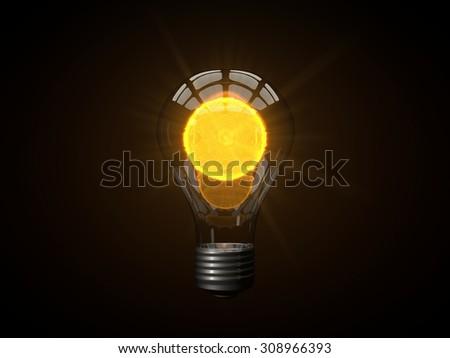 micro sun powered lamp - stock photo