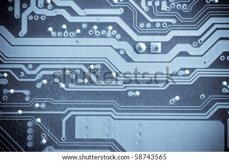 microcircuit. macro shot - stock photo