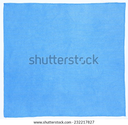 Microfiber cloth isolated on white background - stock photo