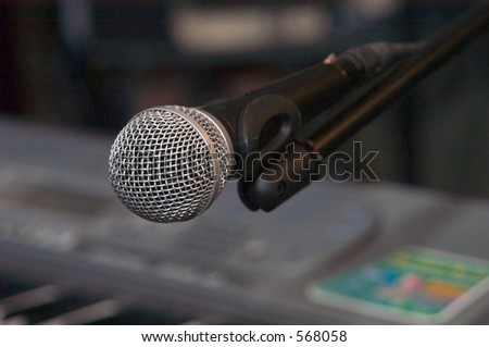 microphone Clouse-up 1 - stock photo
