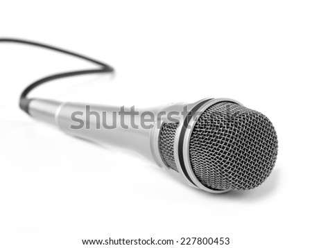 Microphone Isolated on a white background - stock photo