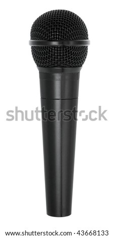microphone isolated on white background with clipping path - stock photo