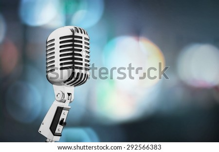 Microphone, Old, Retro Revival. - stock photo