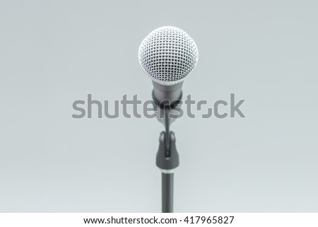 microphone on isolate  - stock photo