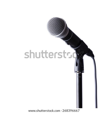 Microphone on stand  - stock photo