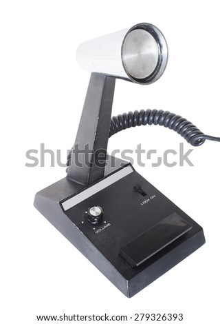 Microphone that was made for ham and cb radio use - stock photo