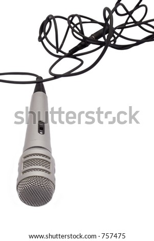 microphone with space for your copy - stock photo