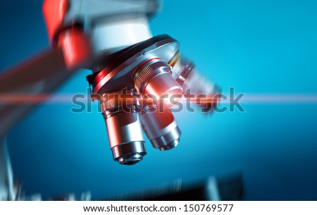 Microscope science background  - stock photo