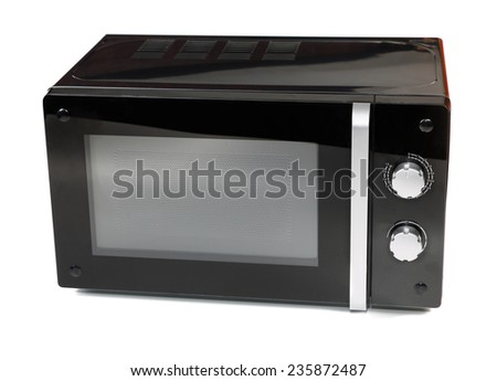 Microwave isolated on a white background - stock photo