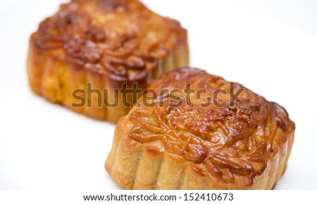 Mid-Autumn Chinese Festival Mooncakes - stock photo