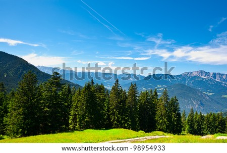 Midday in the Bavarian Alps, Germany - stock photo