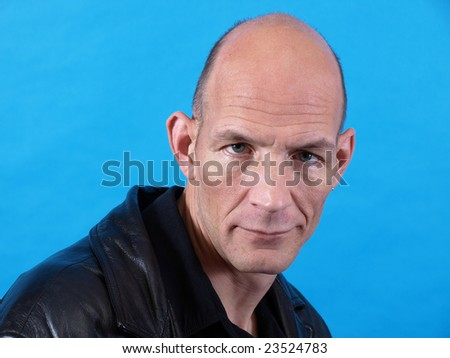Middle Age Stare - stock photo